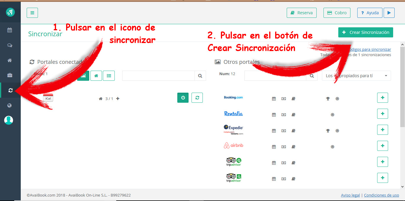 Sincronizar Avaibook con Domiroom